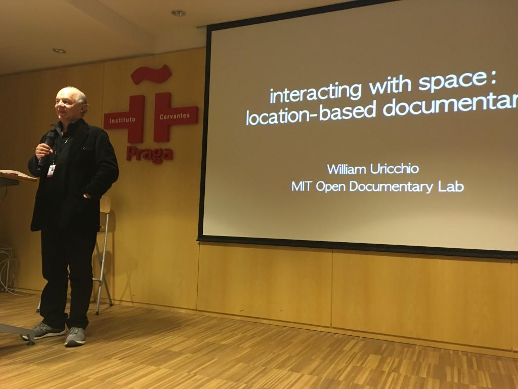 William Uricchio presenting at Doc Tank